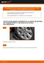 Cómo cambiar: brazo superior de la parte delantera - VW Transporter T4 | Guía de sustitución