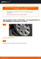 Fitting Coolant temperature sending unit VW TRANSPORTER IV Bus (70XB, 70XC, 7DB, 7DW) - step-by-step tutorial
