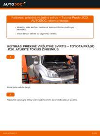Kaip atlikti keitimą: 3.0 D-4D Toyota Prado J120 Vikšro Valdymo Svirtis