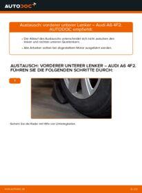 Wie der Wechsel durchführt wird: Querlenker 3.0 TDI quattro Audi A6 C6 tauschen
