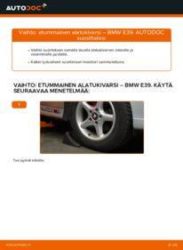 Kuinka vaihtaa Alatukivarsi 523i 2.5 BMW E39 -autoon