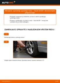 Kako izvesti menjavo: Roka na 2.0 TDI 16V Audi A4 B7 Sedan