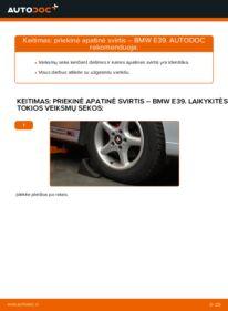 Kaip atlikti keitimą: 523i 2.5 BMW E39 Vikšro Valdymo Svirtis