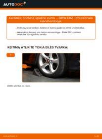 Kaip atlikti keitimą: 120d 2.0 BMW E82 Vikšro Valdymo Svirtis
