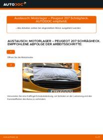 Wie der Wechsel durchführt wird: Motorlager 1.4 HDi Peugeot 207 WA tauschen