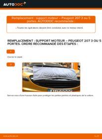 Comment effectuer un remplacement de Support Moteur sur 1.4 HDi Peugeot 207 3 Portes
