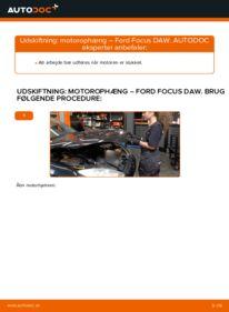 Hvordan man udfører udskiftning af: Motorophæng på 1.6 16V Ford Focus DAW