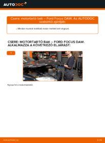 Hogyan végezze a cserét: FORD FOCUS Motor csapágyzás