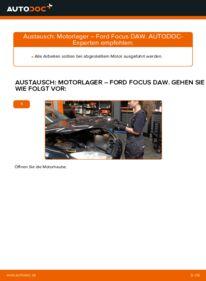 Wie der Wechsel durchführt wird: Motorlager 1.6 16V Ford Focus Mk1 tauschen