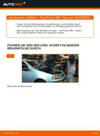 Wie der Wechsel durchführt wird: Luftfilter 1.2 60 Fiat Punto 188 tauschen