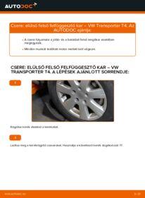 Hogyan végezze a cserét: VW TRANSPORTER Lengőkar