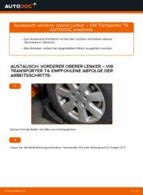 Wie der Wechsel durchführt wird: Querlenker 2.5 TDI VW T4 Transporter tauschen