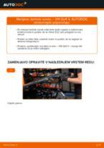 Zamenjavo Zaznavalo lamda: pdf navodila za VW GOLF