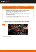 Lambdaszonda-csere VW Golf 4 gépkocsin – Útmutató