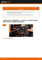 Online-Anleitung zum Fernscheinwerfer Glühlampe-Austausch am VW GOLF IV (1J1) kostenlos