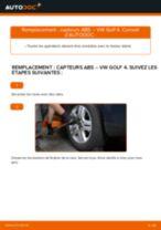 Comment changer : capteurs ABS avant sur VW Golf 4 - Guide de remplacement