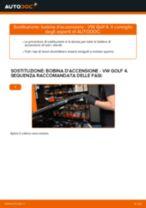 Sostituzione Bobine accensione VW GOLF: tutorial online