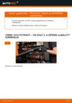 VW GOLF Gyújtótekercs cseréje : ingyenes pdf