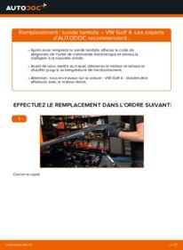 Comment effectuer un remplacement de Sonde Lambda sur 1.4 16V VW Golf IV
