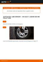 Drehzahlfühler auswechseln: Online-Handbuch für VW GOLF