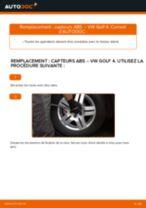 Comment changer : capteurs ABS arrière sur VW Golf 4 - Guide de remplacement