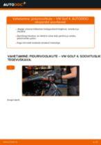 Pidurivoolikud vahetus: pdf juhend VW GOLF