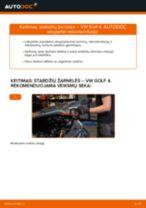 Automechanikų rekomendacijos VW Golf 4 1.6 Stabdžių Kaladėlės keitimui