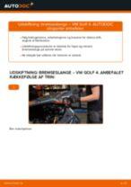 Skifte Bremseslange bag venstre VW GOLF: guider online