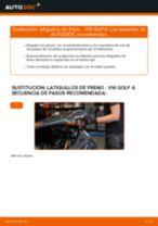 Cambio Tubo de frenos delanteros y traseros VW GOLF: tutorial en línea