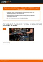 DIY VW change Brake Hose rear and front - online manual pdf