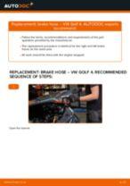 Сhanging Brake Hose rear and front on VW GOLF: online tutorial