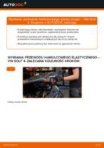 Wymiana Przewody hamulcowe giętkie przednie prawy VW GOLF: online przewodnik