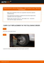 How to change rear shock absorbers on VW Caddy 3 van – replacement guide