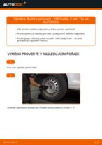 Jak vyměnit zadní tlumiče pérování na VW Caddy 3 van – návod k výměně