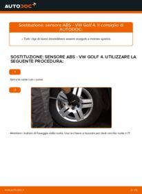 Come effettuare una sostituzione di Sensore ABS su VW ? Dai un'occhiata alla nostra guida dettagliata e scopri come farlo