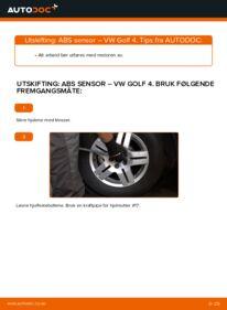 Slik bytter du ABS Sensor på VW GOLF