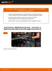Wie der Wechsel durchführt wird: Bremsschläuche 1.4 16V Golf 4 tauschen