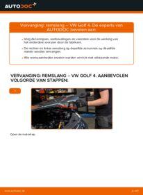 Vervangen: Remslang VW GOLF