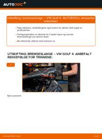 Slik bytter du Bremseslange på VW GOLF