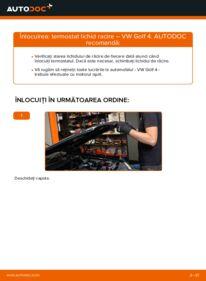 Cum să efectuați înlocuirea: Termostat la 1.4 16V Golf 4