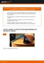 Cómo cambiar: escobillas limpiaparabrisas de la parte delantera - Mercedes W210 | Guía de sustitución