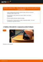 Jak vyměnit přední a zadní List stěrače MERCEDES-BENZ udělej si sám - online návody pdf