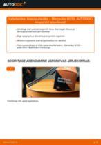 Käsiraamat PDF E-klass hoolduse kohta