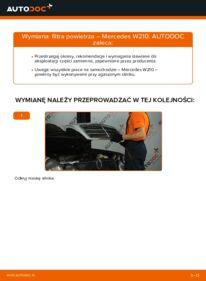 Jak przeprowadzić wymianę: Filtr powietrza w MERCEDES-BENZ E-CLASS