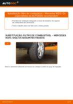 Como mudar filtro de combustível em Mercedes W210 - guia de substituição