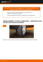 Notre guide PDF gratuit vous aidera à résoudre vos problèmes de MERCEDES-BENZ Mercedes W210 E 220 CDI 2.2 (210.006) Filtre d'Habitacle