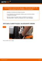 Como mudar terminal de direção em Mercedes W210 - guia de substituição