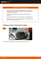 Kaip pakeisti Mercedes W210 stabdžių diskų: priekis - keitimo instrukcija