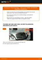 Ersetzen von Scheibenbremsbeläge MERCEDES-BENZ E-CLASS: PDF kostenlos