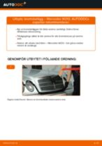 Byta bromsbelägg fram på Mercedes W210 – utbytesguide